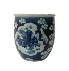 chinese blue u0026 white flower vase porcelain narrow pot planter