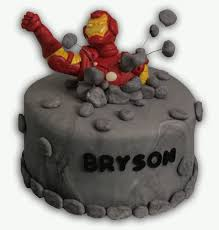iron man cake cooking