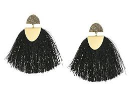 earrings brand lucky brand black fringe earrings at zappos