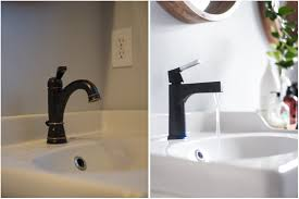 Black Faucets For Bathroom by Master Bathroom Update Not Complicated But Makes A Huge Difference