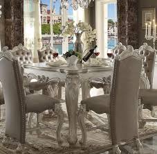 versailles dining room acme furniture white versailles dining room set classic 7pcs