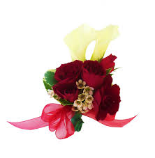 Red Rose Corsage White Calla Lily And Spray Rose Wrist Corsage 35 00 Send