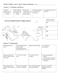 study guide unit 3 u2014river valley civilizations