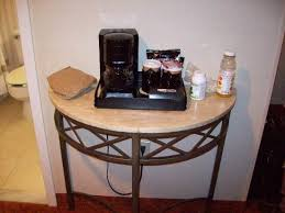Coffee Maker Table Table Stand Just Outside Of Bathroom Coffee Maker Tea Etc