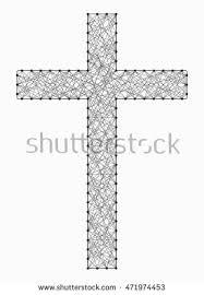 symbol christian cross made nails winding stock vector 471974453