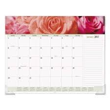 desk pad calendar 2018 at a glance 89805 22 x 17 floral panoramic monthly january 2018