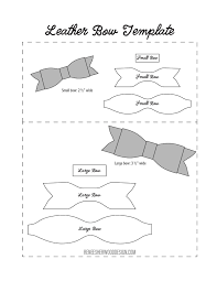 free no sew leather or felt bow template at www
