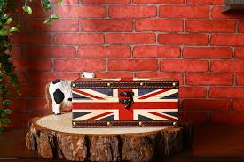 british flag pattern tissue box vintage home decor boxes wood