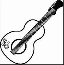 stunning acoustic guitar coloring pages guitar coloring pages