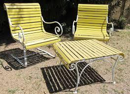 Vintage Outdoor Patio Furniture Vintage Patio Table Wrought Iron Furniture Regarding Lawn