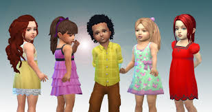 childs hairstyles sims 4 my stuff toddlers hair pack 5