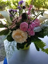 Tall Glass Vase Flower Arrangement Windmill Farm Mother