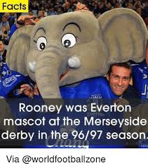 Everton Memes - facts rooney was everton mascot at the merseyside derby in the 9697