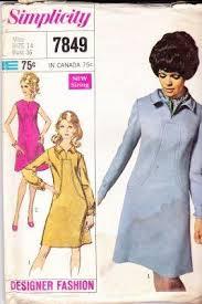 mad men dress simplicity 7849 dress vintage sewing pattern designer
