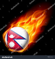 Pics Of Nepal Flag Flag Nepal Round Glossy Icon Burning Stock Vector 329838713