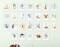 printable alphabet letter cards animals alphabet wall cards alphabet nursery art abc flash