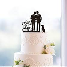 cake topper with dog wedding cake topper with pet dog silhouette