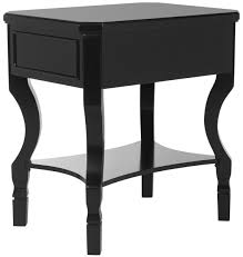 Modern Black Nightstand Fox6275b Nightstands Furniture By Safavieh