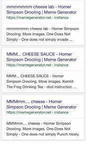 Meme Generator Homer Simpson - mmmmmmm cheese lab homer simpson drooling l meme generator