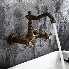 Wall Mounted Bathroom Sink Faucets by Inspired Bathroom Sink Faucet Wall Mount Antique Brass Finish