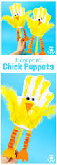 the cutest handprint puppets dramatic play and easter crafts