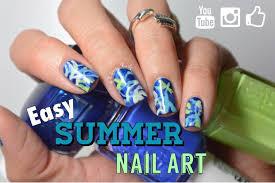 easy summer nail art no tools needed youtube