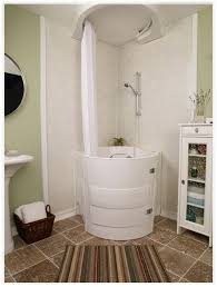 this soaking tub with shower is a walk in bathtub designed for use