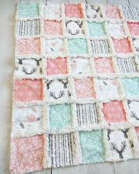 woodland crib quilt for baby coral crib bedding with deer