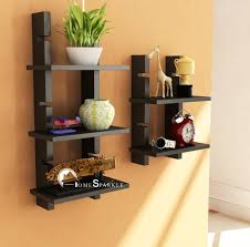 home sparkle adjustable ladder style wooden wall shelf price in