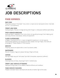 description of job duties for cashier fast food cashier job description stibera resumes shalomhouse us