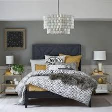 Bedroom Design Grey Grey And Blue Decor With Yello Pop Of Color Bedroom Decor