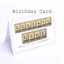 75th Birthday Invitation Cards Scrabble 75th Birthday Card 75 Its Only 23 In Scrabble 2