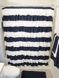 navy shower curtain black and white shower curtain fabric shower