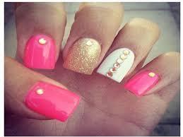 White Pink Nail 12 Pretty And Shiny Gold Nail Designs