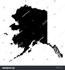 Alaska Map Images by Alaska Map On White Background Vector Stock Vector 383009647