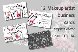 set of makeup artist business card card templates creative market