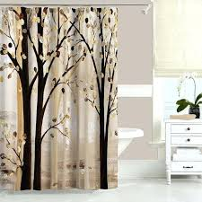 Plastic Shower Curtain Rod Brown Shower Curtains Teawing Co