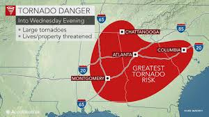 Tornado Map Deadly Tornadoes Possible Today