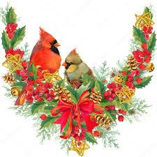 christmas mistletoe watercolor christmas frame with bird mistletoe berry