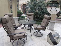 Swivel Rocking Chairs For Patio Pebble Lane Living 5 Piece Outdoor Dining Set With Cushioned