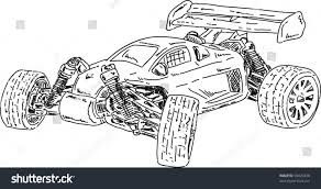 monster trucks drawings vector hand draw rc buggy car stock vector 92620438 shutterstock