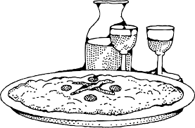 wine clipart clipart pizza and wine