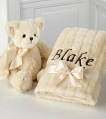 engraved teddy bears personalized baby blanket teddy gift set k087 gifts