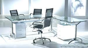 Modern Glass Executive Desk Modern Glass Desk Futureishp