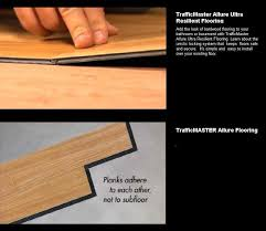 How To Install Hardwood Floors On Concrete Without Glue - trafficmaster allure ultra resilient plank flooring the home