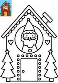 Dessin de Noël à imprimer et colorier  La Maison du Père Noël