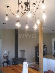 Hanging Edison Bulb Chandelier Diy Dining Room Light I U0027m A Diy Wanna Be Pinterest Diy