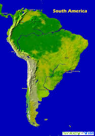 Blank South American Map by Map Of South America