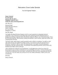relocation cover letters relocation cover letter exles cover letter for a