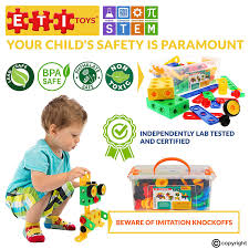 amazon com eti toys stem learning original 101 piece